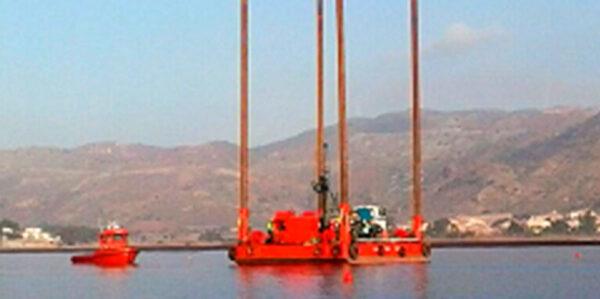 Pontona modular flotante Amarradores Ochenta